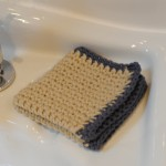 Stone coloured washcloth 004